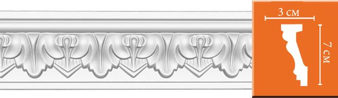 Плинтус с орнаментом Decomaster  95214 (размер 70х30х2400)