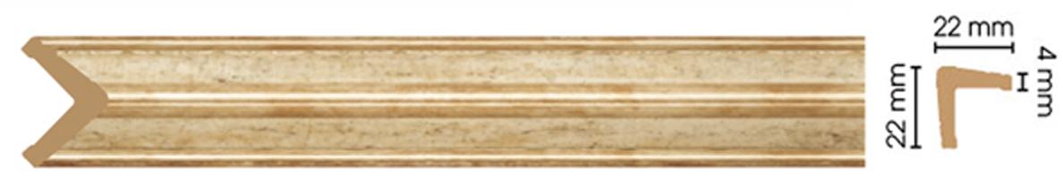Уголок Decomaster 116S-553  (размер 22х22х2400)