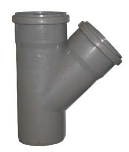 Тройник 110-110х45гр (внутр. канализация)