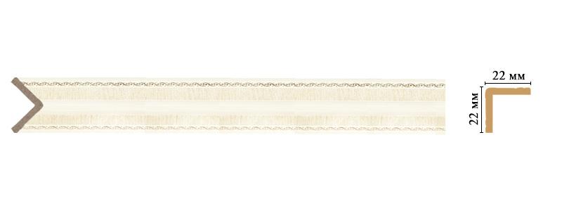 Цветной угол Decomaster 116M-6 (размер 22х22х2400)