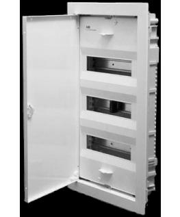 Щит ABB UK 530S (36-42 модулей), врезной, белый с белой металлической дверью