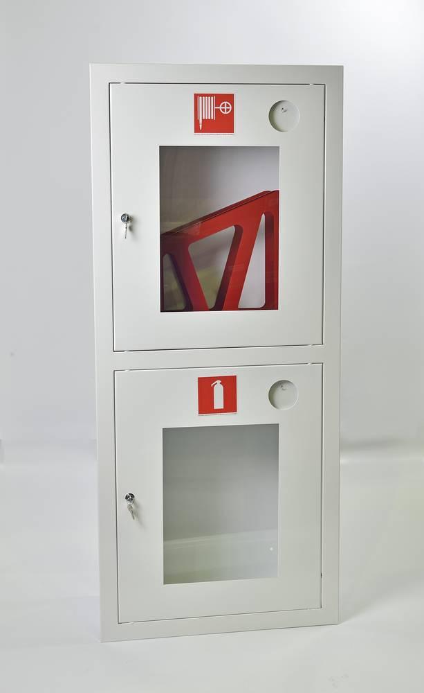 Шкаф пожарный ШПК-320ВОБ встраиваемый открытый белый