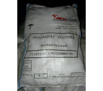 Формиат натрия, мешок 25кг