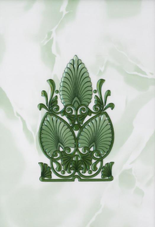 Декор Восток зеленый 20х30