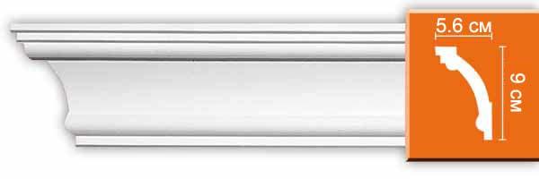 Плинтус гладкий Decomaster 96611 (размер 90x56x2400)