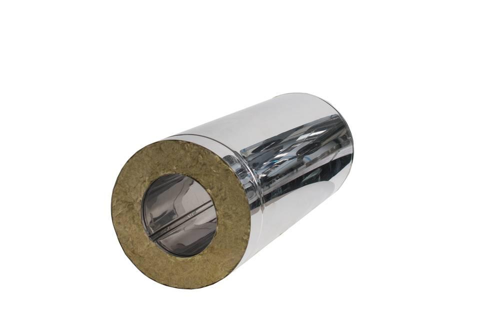 Труба-сэндвич нержавеющая сталь L-0.5м диам 100