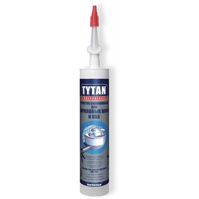 Герметик силиконовый Tytan Professional для акриловых ванн белый 310 мл