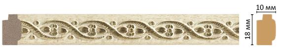 Decomaster Багет Decomaster 158-5 (размер 18х10х2400) decomaster багет decomaster 808 552 размер 61х26х2900мм