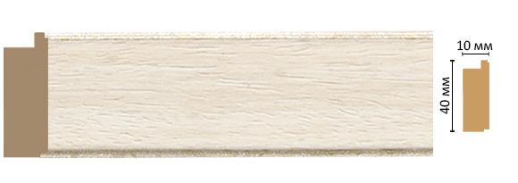 Decomaster Багет Decomaster 109-15 (размер 40х10х2400) decomaster багет decomaster 808 552 размер 61х26х2900мм