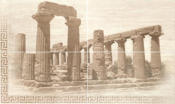 Панно-4 плитки Gracia Ceramica Itaka beige 60х100
