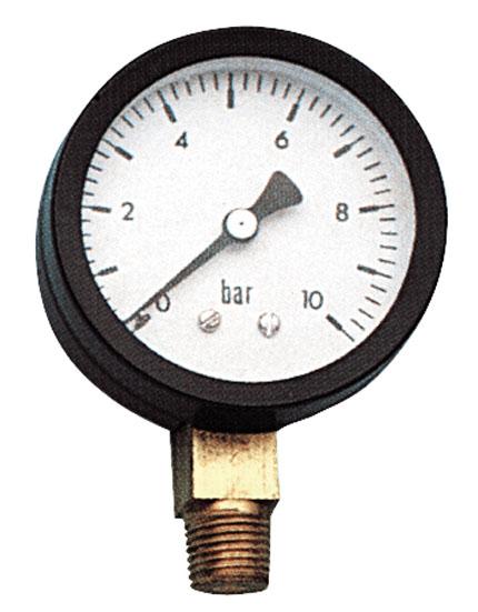 Манометр вертикальный 50-1/4-10bar
