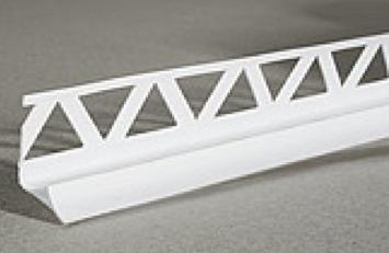 Планка для внутренних углов плитки, 2.5м (белая)