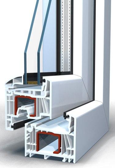 Окно пластиковое Brusbox выс.1320 шир.970мм двухстворчатое Г/П