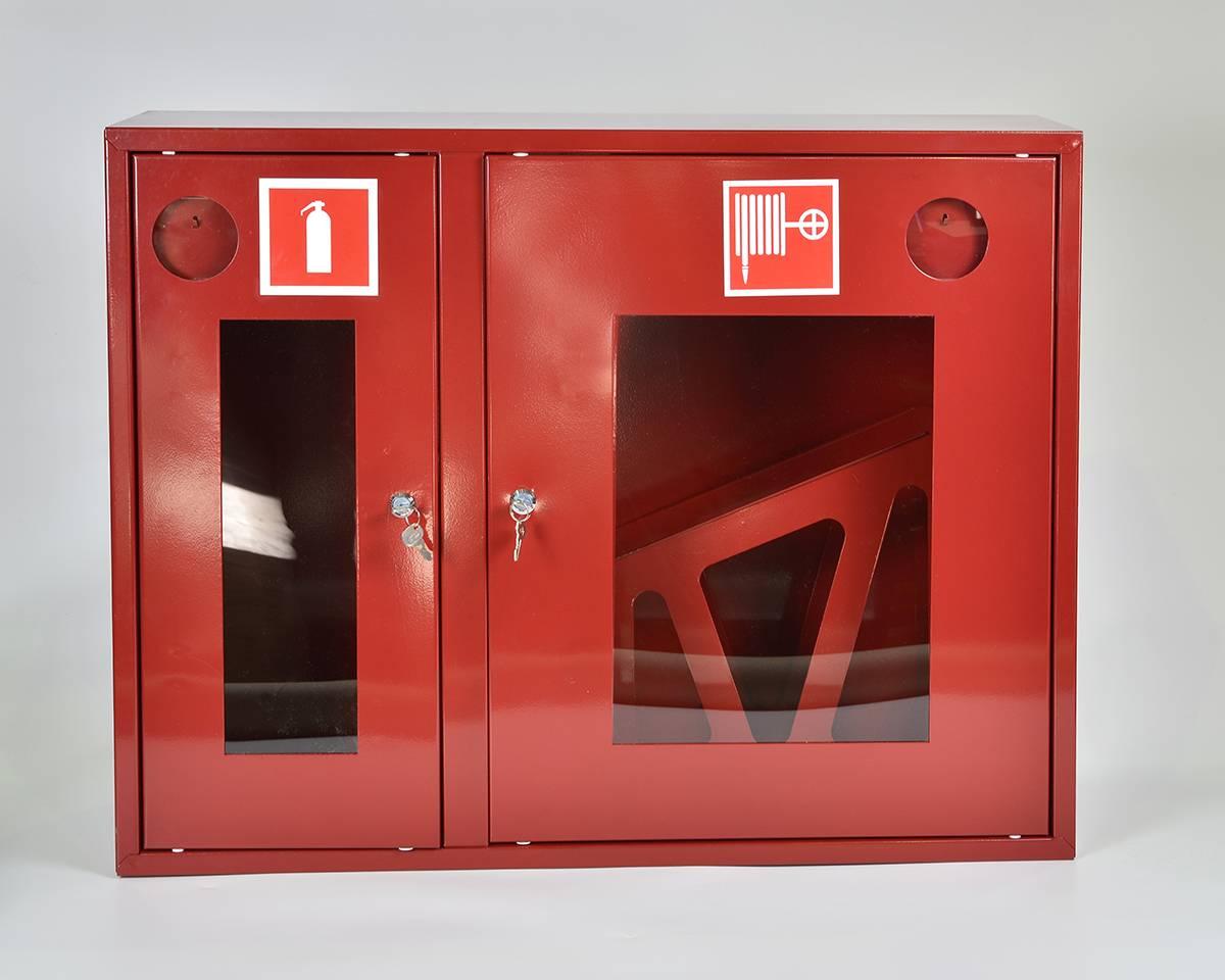 Шкаф пожарный ШПК-315НОК навесной открытый красный