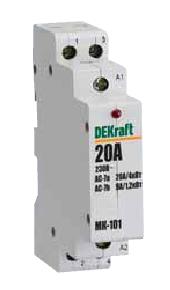 DEKraft Контактор модульный 2НО 25А 230В МК-103 DEKraft (18064DEK)
