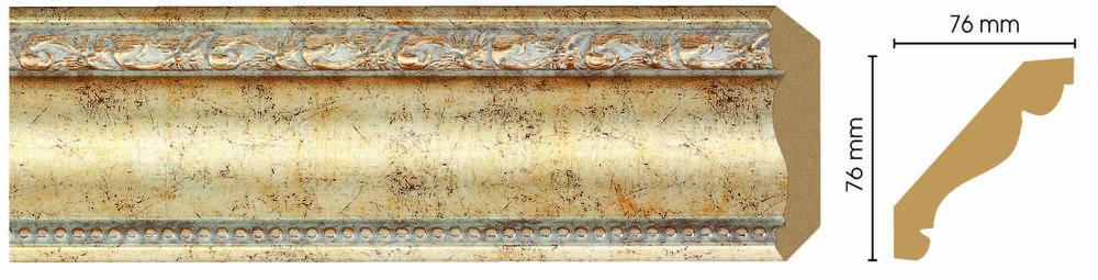 Потолочный плинтус (карниз) Decomaster 154-553 (размер 76х76х2400)