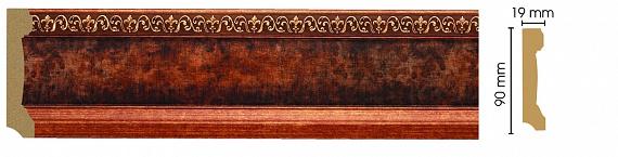 Плинтус напольный Decomaster 166-767 (размер 90х19х2400)