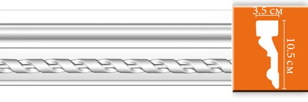 Молдинг с орнаментом Decomaster DT 1 (размер 105х35x2400)