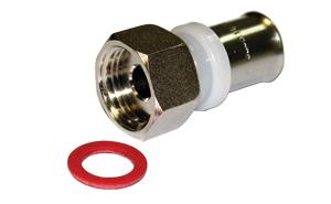 Пресс ниппель (муфта) с накидной гайкой 16-3/4 внутр резьба  соединитель прямой с накидной гайкой 20 х 3 4 внутр г mx rehau