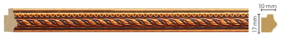 Молдинг Decomaster 149-954 (размер 17х10х2400)