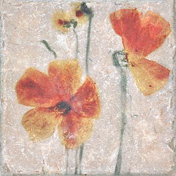 Плитка Cir Marble Style Inserto Style S/3 (Два Цветка)