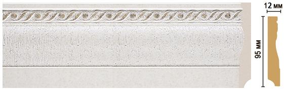 Цветной напольный плинтус Decomaster 153-42 (размер 95х12х2400)