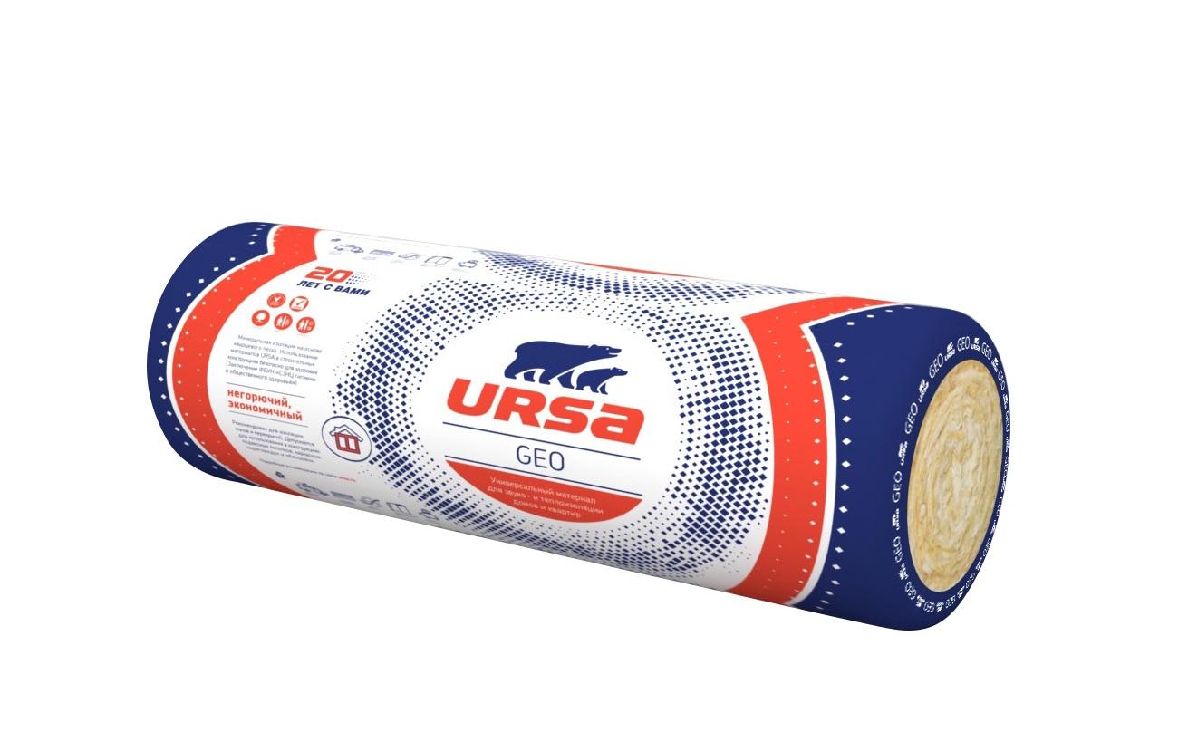 Стекловата Урса (Ursa) теплоизоляция 21,6 м2, (1,08 м3)