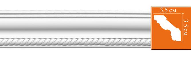 Плинтус с орнаментом Decomaster 95637 (размер 35х35х2400)
