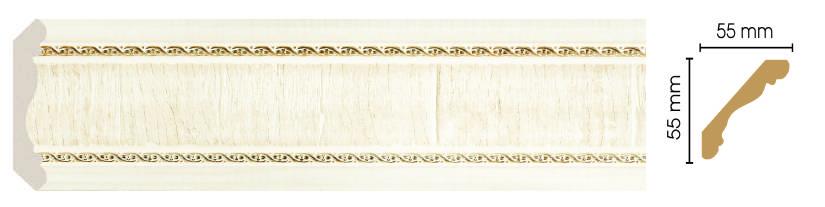 Цветной плинтус Decomaster 173-6 (55х55х2400)