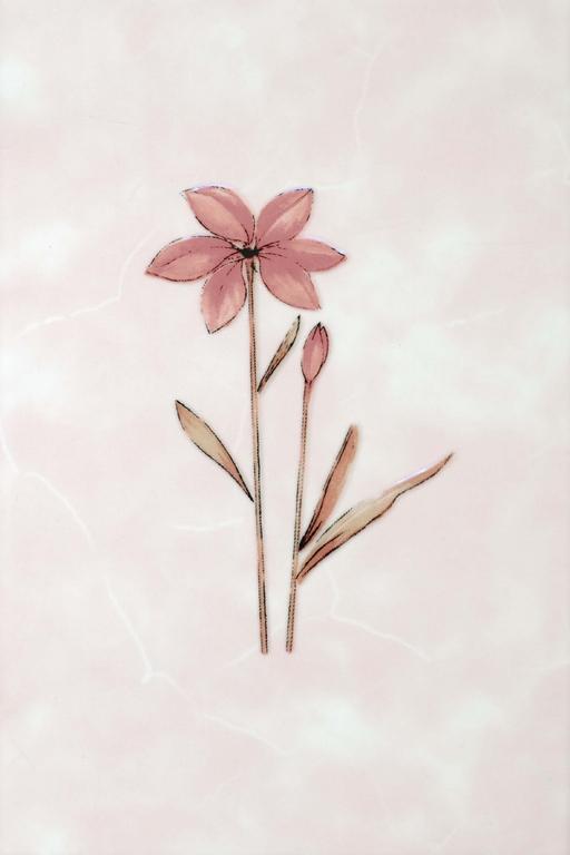 Декор Валентино Цветы розовый 20х30