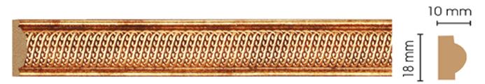 Молдинг Decomaster 160А-893 (размер 18х10х2400)