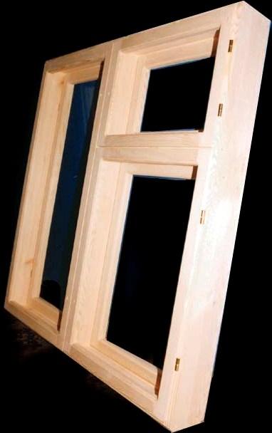 Оконная деревянная рама (размер 1х1.2м)