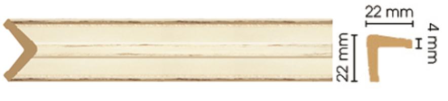 Уголок Decomaster 116S-1028 (размер 22х22х2400)