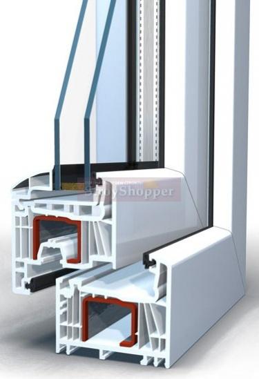 Окно пластиковое Brusbox выс.870 шир.1320мм двухстворчатое Г/П
