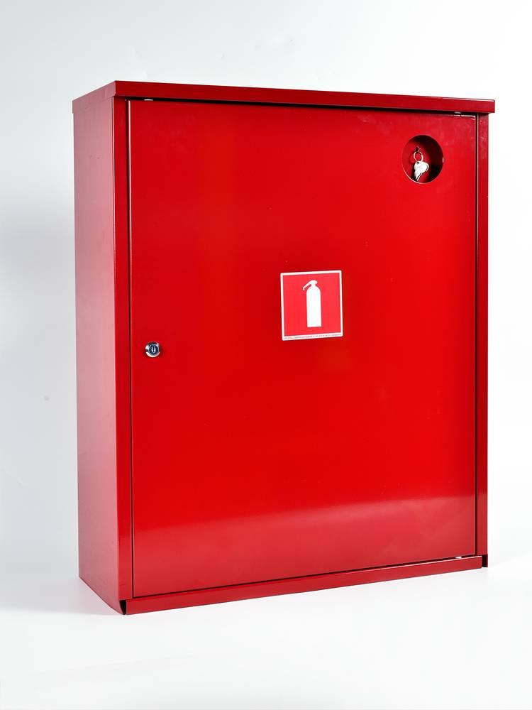 Шкаф для огнетушителя ШПО-112НЗК навесной закрытый красный