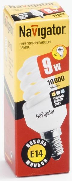 Лампа э/сб Navigator NСL-SF10-09-827-E14 теплый (9Вт)
