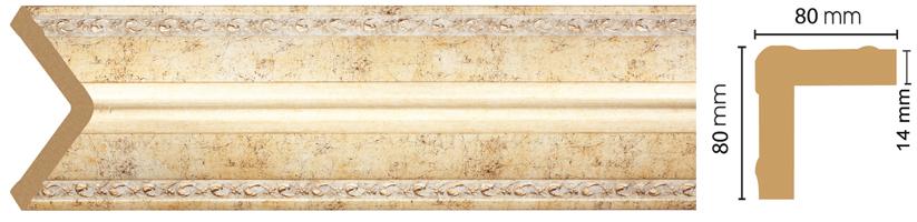 Уголок Decomaster 140-553 (размер 80х80х2400)