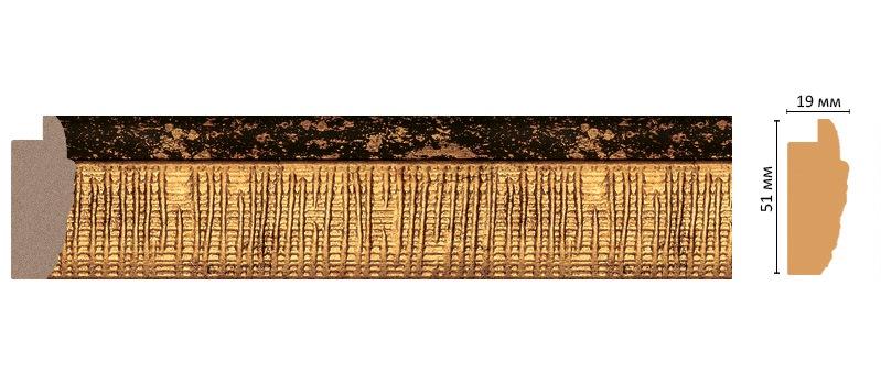 Decomaster Багет Decomaster 686M-565 (размер 51х19х2900) decomaster багет decomaster 808 552 размер 61х26х2900мм
