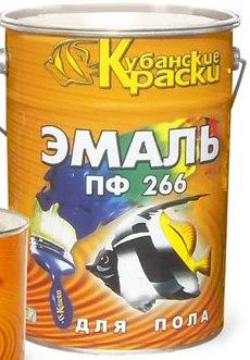 Эмаль для пола ПФ-266 красно-коричневая, 20кг