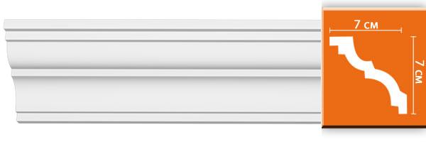 Плинтус гладкий Decomaster 96614 (размер 70x70x2400)