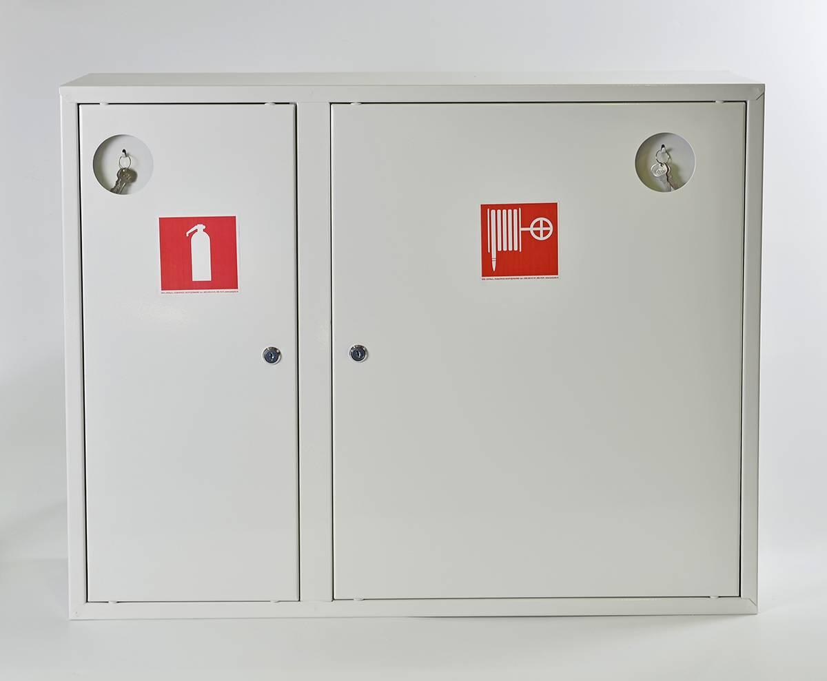 Шкаф пожарный ШПК-315НЗБ навесной закрытый белый