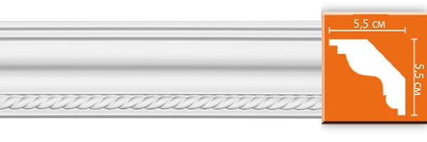 Плинтус с орнаментом Decomaster DT 138 (размер 55x55x2400)