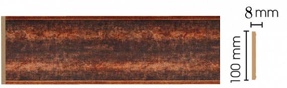 Декоративная панель Decomaster B10-767 (100х9х2400мм)