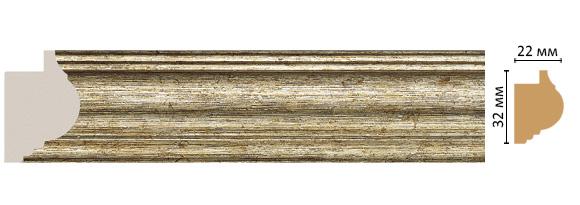 Decomaster Багет Decomaster 651-176S (размер 32х22х2900) decomaster багет decomaster 808 552 размер 61х26х2900мм