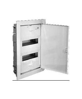 Щит ABB UK 520S (24-28 модулей), врезной, белый с белой металлической дверью