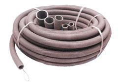 Труба ПВХ гофрированная (гофра), гибкая, лёгкая с протяжкой (диам. 16 мм)