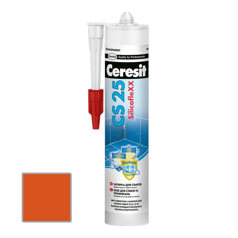 Затирка силиконовая Ceresit CS 25 Кирпич 0,28 л