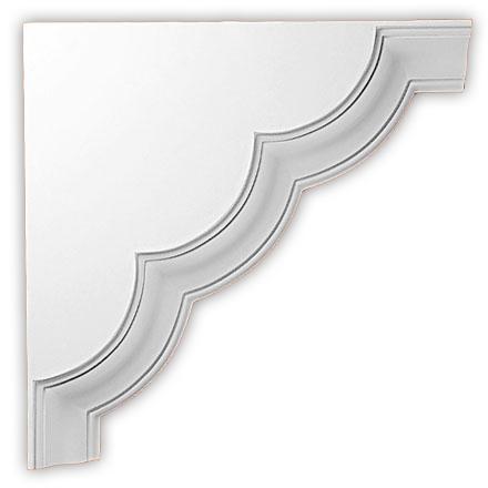 Угол декоративный Decomaster DCB 357 (размер 615х615х85)