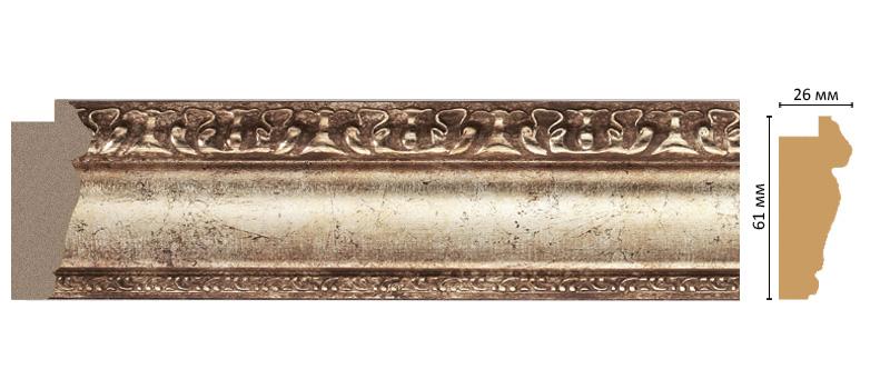 Багет Decomaster 304-127 (размер 61х26х2900)