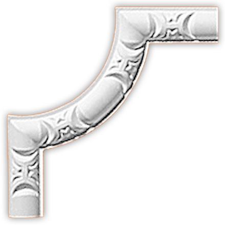 Угол декоративный Decomaster 98013-2 (размер 144х144х10)